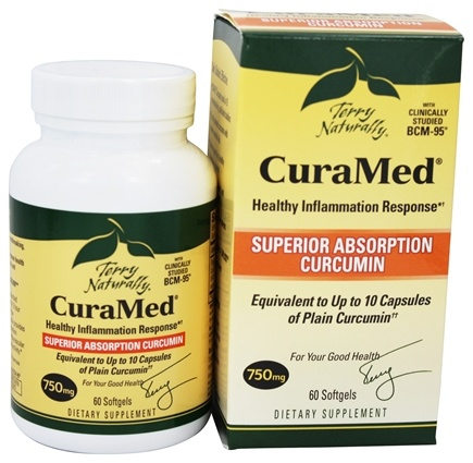 EuroPharma - Terry Naturally CuraMed with BCM-95 750 mg. - 60 Softgels