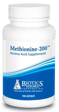 DROPPED: Biotics Research - Methionine 200 mg. - 100 Capsules CLEARANCE PRICED