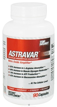 DROPPED: Top Secret Nutrition - AstraVar Nitric Oxide Amplifer 50 mg. - 90 Capsules
