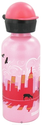 DROPPED: Sigg - Aluminum Water Bottle For Kids Pink Skyline - 0.4 Liter(s) CLEARANCE PRICED