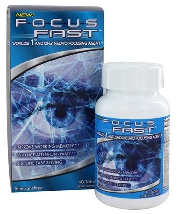 DROPPED: Enyotics Health Sciences - Focus Fast Neuro Focusing Agent - 40 Tablet(s)