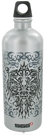 DROPPED: Sigg - Aluminum Water Bottle Tribal Head - 1 Liter CLEARANCE PRICED