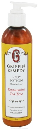 DROPPED: Griffin Remedy - Moisturizing Body Lotion Peppermint Tea Tree - 8 oz.