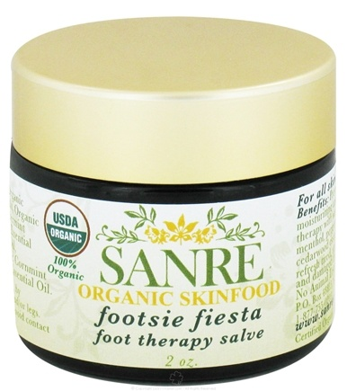 DROPPED: SanRe Organic Skinfood - Footsie Fiesta Foot Therapy Salve - 2 oz. CLEARANCE PRICED