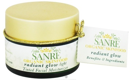 DROPPED: SanRe Organic Skinfood -  Radiant Glow-Light Tinted Facial Moisturizer - 1.1 oz.