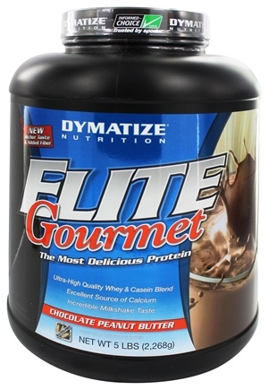 DROPPED: Dymatize Nutrition - Elite Gourmet Protein Whey & Casein Blend Powder Chocolate Peanut Butter - 5 lbs.