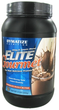 DROPPED: Dymatize Nutrition - Elite Gourmet Protein Whey & Casein Blend Powder Chocolate Peanut Butter - 2 lbs. CLEARANCE PRICED