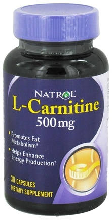DROPPED: Natrol - L-Carnitine 500 mg. - 30 Capsules CLEARANCE PRICED