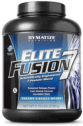 DROPPED: Dymatize Nutrition - Elite Fusion 7 Scientifically Engineered 7-Protein Blend Creamy Vanilla Shake - 5.15 lbs.
