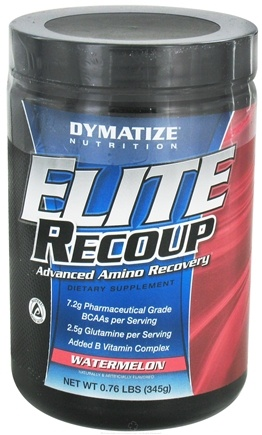 DROPPED: Dymatize Nutrition - Elite Recoup Advanced Amino Recovery - 30 Servings Watermelon - 0.76 lbs. CLEARANCE PRICED