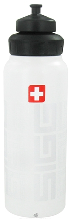 DROPPED: Sigg - Aluminum Water Bottle Wide Mouth SIGGNature White - 1 Liter CLEARANCE PRICED
