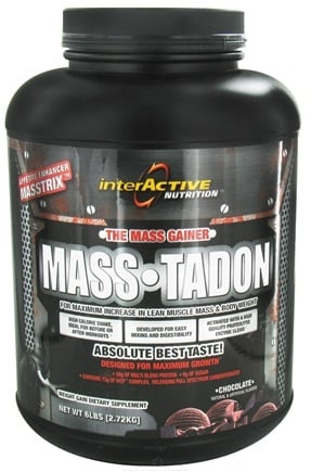 DROPPED: InterActive Nutrition - Mass-Tadon Chocolate - 6 lbs. CLEARANCE PRICED