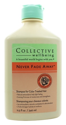 Collective Wellbeing - Shampoo Never Fade Away For Color Treated Hair Marigold & Evening Primrose - 11.5 oz.