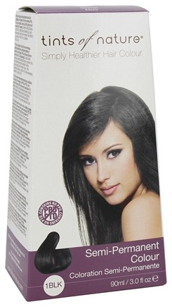 Tints Of Nature - Semi-Permanent Hair Color Black - 3 oz. LUCKY PRICE