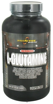 DROPPED: InterActive Nutrition - L-Glutamine Micronized 5 g. - 0.5 lbs.