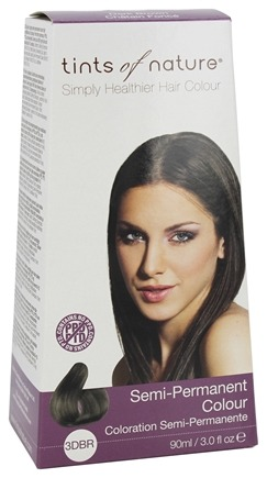 Tints Of Nature - Semi-Permanent Hair Color Dark Brown - 3 oz.