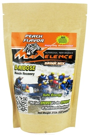 DROPPED: Maxelence - D-Ribose Energy Drink Mix Peach - 0.5 lbs. CLEARANCE PRICED