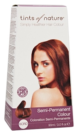 DROPPED: Tints Of Nature - Semi-Permanent Hair Color Copper Red - 3 oz. CLEARANCE PRICED