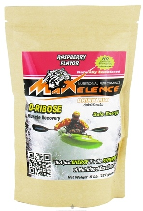 DROPPED: Maxelence - D-Ribose Energy Drink Mix Raspberry - 0.5 lbs. CLEARANCE PRICED