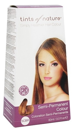 Tints Of Nature - Semi-Permanent Hair Color 5CBR Copper Brown - 3 oz.