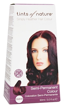 DROPPED: Tints Of Nature - Semi-Permanent Hair Color Mahogany Red - 3 oz.