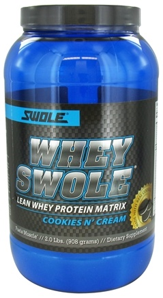 DROPPED: Swole Sports Nutrition - Whey Swole Advance Whey Protein Matrix Cookies N' Cream - 2 lbs. CLEARANCE PRICED