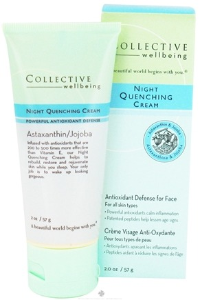 DROPPED: Collective Wellbeing - Night Quenching Cream For Face with Astaxanthin & Jojoba - 2 oz.