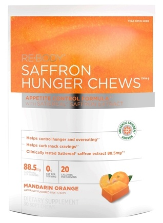 DROPPED: ReBody - Hunger Chews Mandarin Orange with Satiereal Saffron Extract - 30 Chew(s)