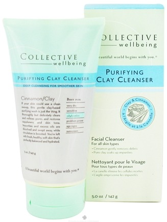 DROPPED: Collective Wellbeing - Facial Cleanser Purifying Clay Cleanser with Clay & Cinnamon - 5 oz.