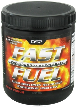 DROPPED: RSP Nutrition - Fast Fuel Pre Workout Supplement 30 Servings Fruit Punch - 300 Gram(s) CLEARANCE PRICED