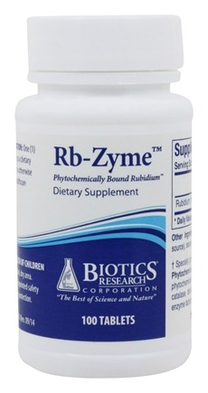 Biotics Research - Rb-Zyme Phytochemically Bound Rubidium - 100 Tablets