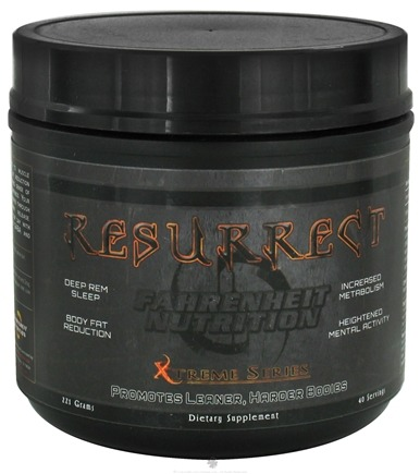 DROPPED: Fahrenheit Nutrition - Resurrect Sleep Therapy - 40 Servings - 221 Grams CLEARANCE PRICED