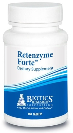 DROPPED: Biotics Research - Retenzyme Forte - 180 Tablets