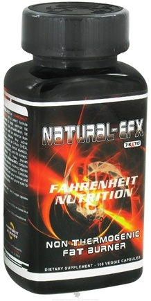 DROPPED: Fahrenheit Nutrition - Natural EFX Non-Thermogenic Fat Burner - 108 Vegetarian Capsules CLEARANCE PRICED