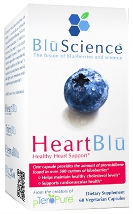 DROPPED: BluScience - HeartBlu Healthy Heart Support - 60 Vegetarian Capsules