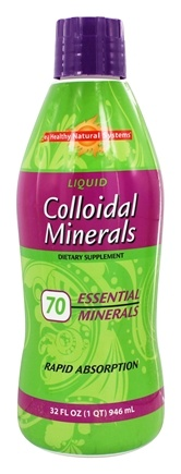 Healthy Natural Systems - Liquid Colloidal Minerals Rapid Absorption - 32 oz.