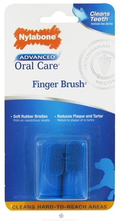 DROPPED: Nylabone - Advanced Oral Care Finger Brush - 2 Piece(s) CLEARANCE PRICED
