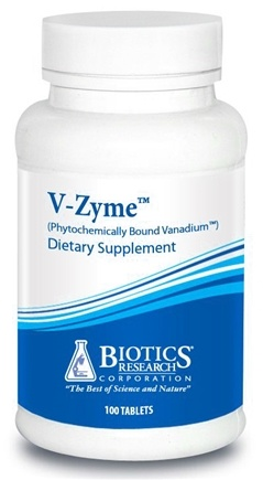 DROPPED: Biotics Research - V-Zyme Phytochemically Bound Vanadium - 100 Tablets CLEARANCE PRICED