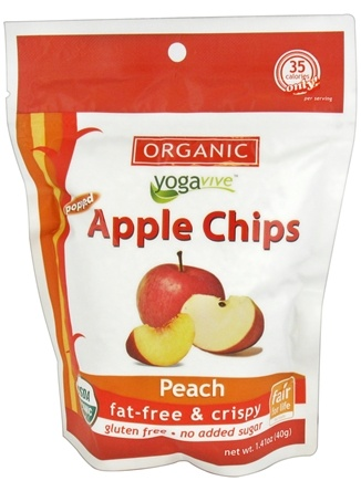 DROPPED: Yogavive - Apple Chips Organic Peach - 1.41 oz.