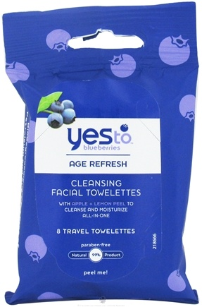 DROPPED: Yes To - Blueberries Cleansing Facial Towelettes - 8 Towelette(s) CLEARANCE PRICED
