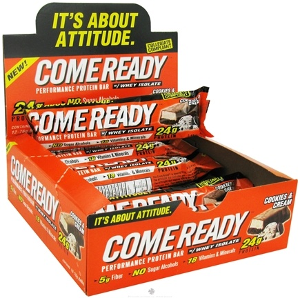 DROPPED: Crons Come Ready - Performance Protein Bar with Whey Isolate Cookies and Cream - 76 Grams CLEARANCE PRICED