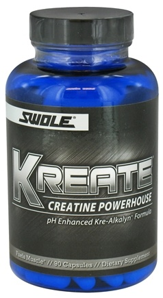 DROPPED: Swole Sports Nutrition - Kreate Anabolic Creatine Powerhouse - 90 Capsules CLEARANCE PRICED