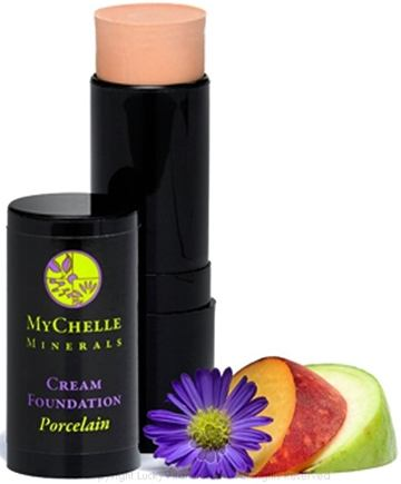 MyChelle Dermaceuticals - Minerals Cream Foundation Porcelain - 0.4 oz.