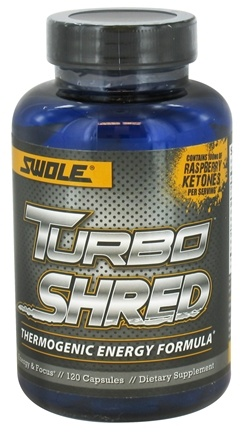DROPPED: Swole Sports Nutrition - Turbo Shred Thermogenic Fat-Burner - 120 Capsules CLEARANCE PRICED