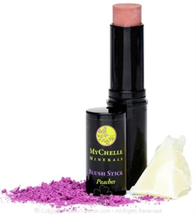 DROPPED: MyChelle Dermaceuticals - Minerals Blush Stick Peaches - 0.4 oz. CLEARANCE PRICED