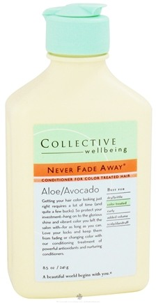 DROPPED: Collective Wellbeing - Conditioner Never Fade Away For Color Treated Hair Aloe & Avocado - 8.5 oz.