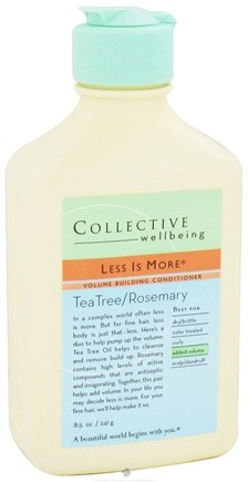 DROPPED: Collective Wellbeing - Conditioner Less Is More Volume Building Tea Tree & Rosemary - 8.5 oz. CLEARANCE PRICED