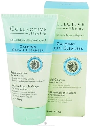 DROPPED: Collective Wellbeing - Facial Cleanser Calming Cream Cleanser with Rosemary & Sage - 5 oz.