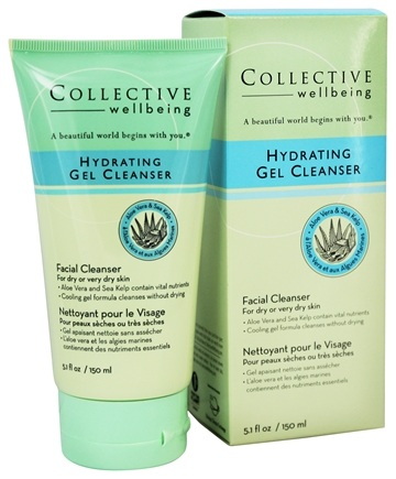 Collective Wellbeing - Facial Cleanser Hydrating Gel Cleanser with Aloe Vera & Sea Kelp - 5.1 oz.