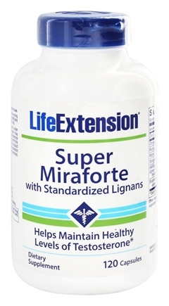 Life Extension - Super Miraforte with Standardized Lignans - 120 Capsules